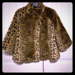 Free people leopard faux fur coat